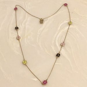 Colorful Kate Spade flower necklace